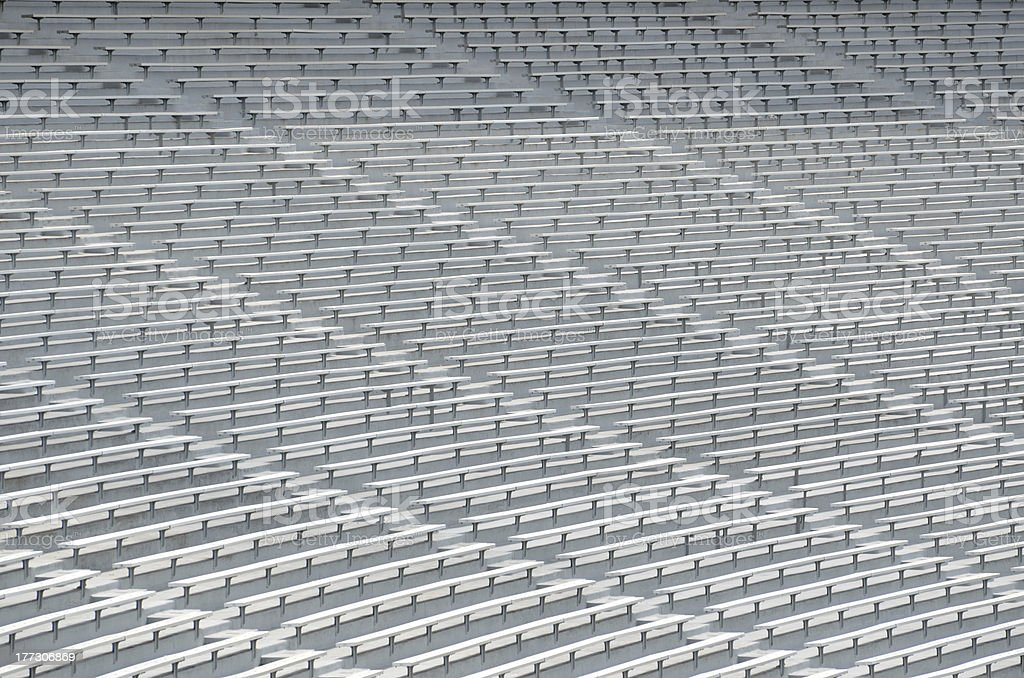 College Football Bleacher Seats stock photo