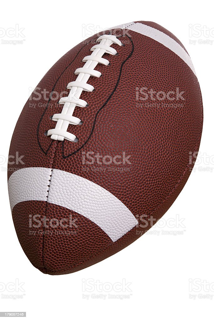 College football isolated on white stock photo