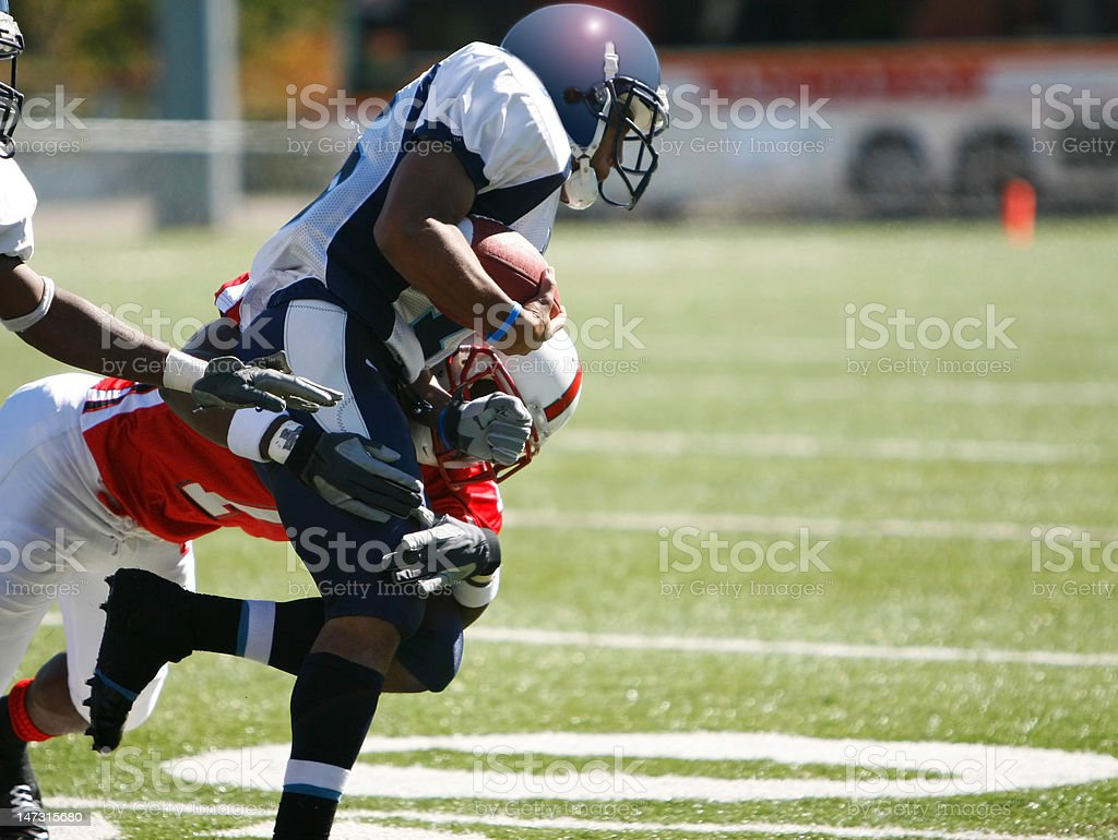 College Football Tackle stock photo