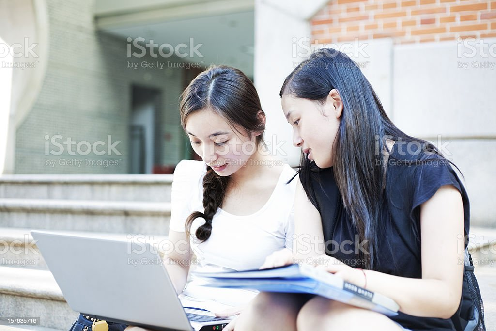 College friends stock photo