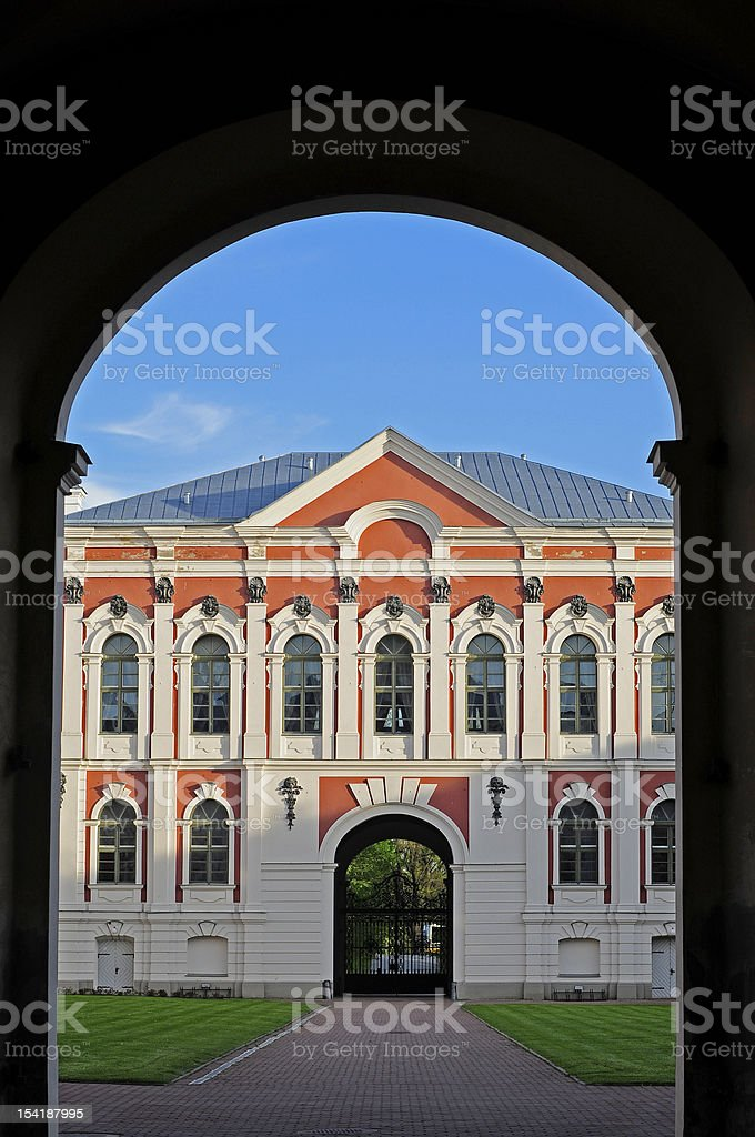College gate royalty-free stock photo