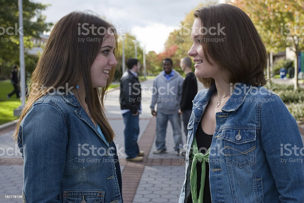College gossips royalty-free stock photo