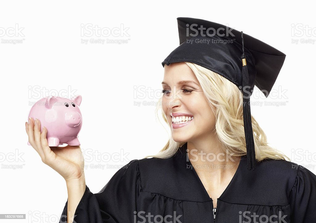 College graduate saving for the future royalty-free stock photo