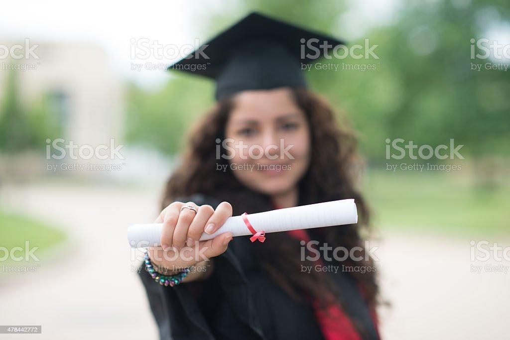 College grauduate stock photo