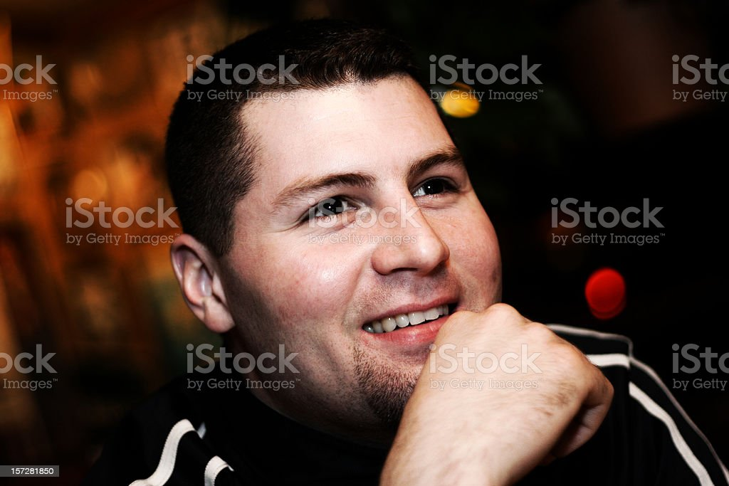 College Guy Hanging Out royalty-free stock photo