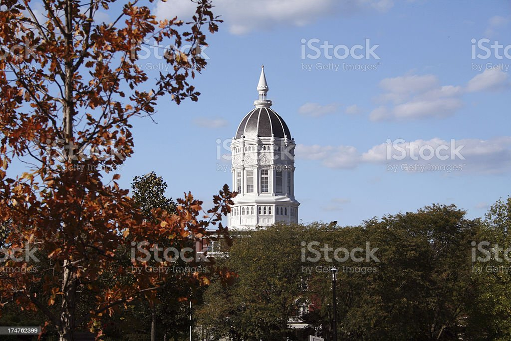 College in the Fall stock photo