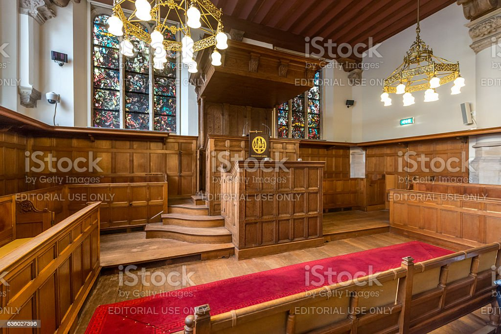 College Interior Of The Old University Leiden Royalty Free Stock Photo