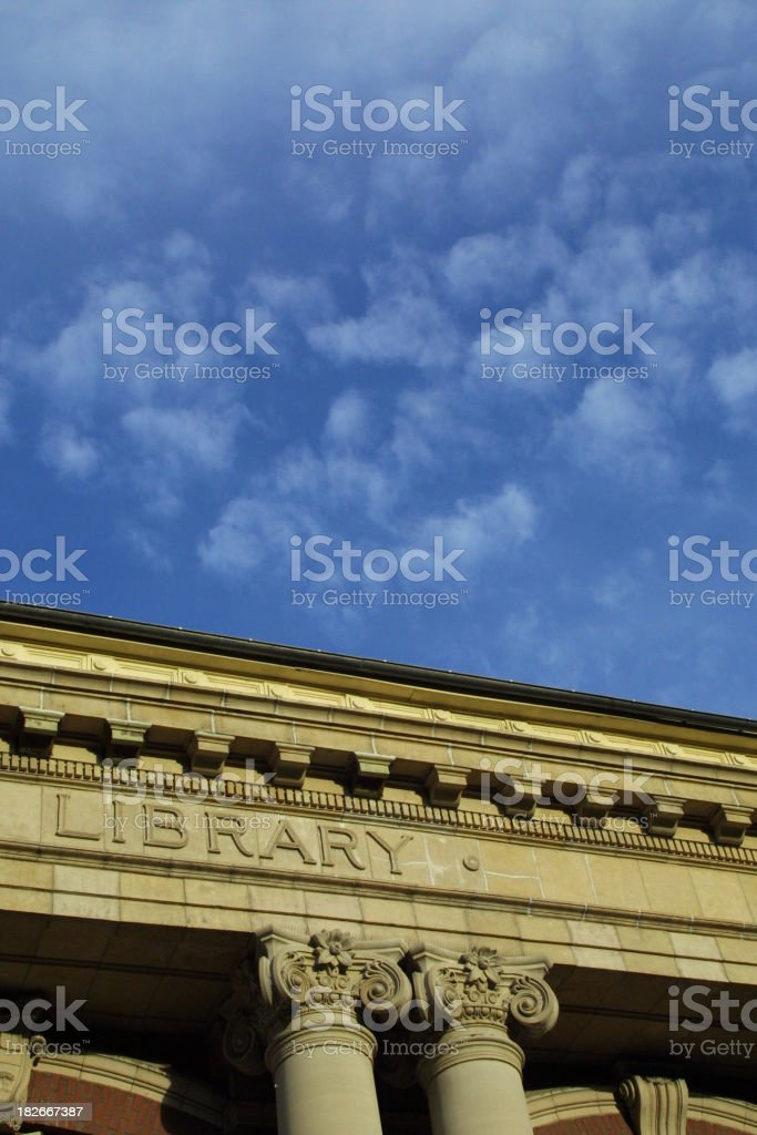 College Library royalty-free stock photo