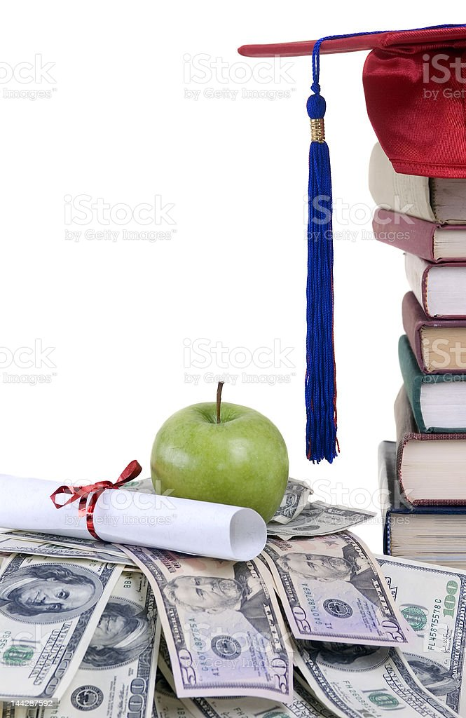College Money royalty-free stock photo