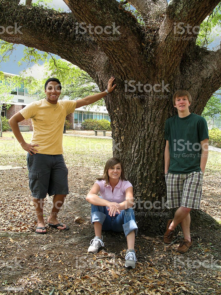 College Pals royalty-free stock photo