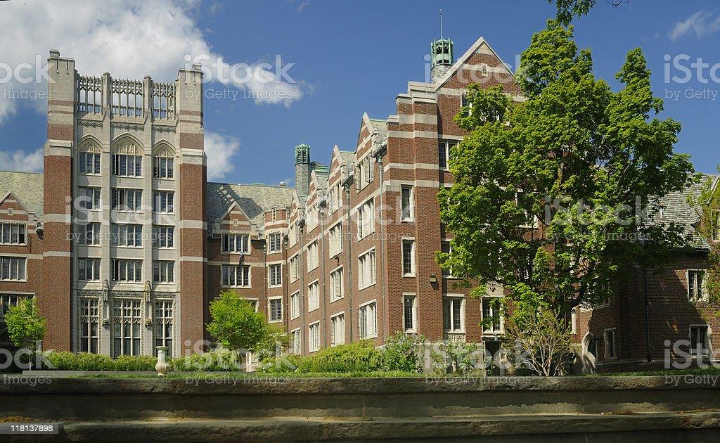 College Quad stock photo
