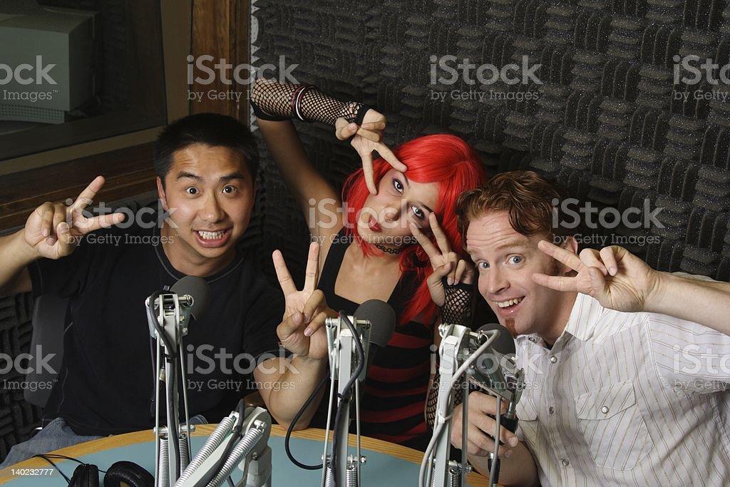 College Radio Crew royalty-free stock photo