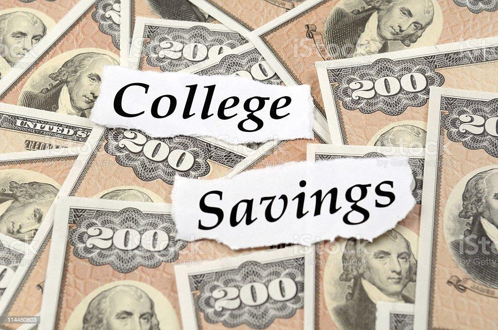 College Savings Bonds stock photo