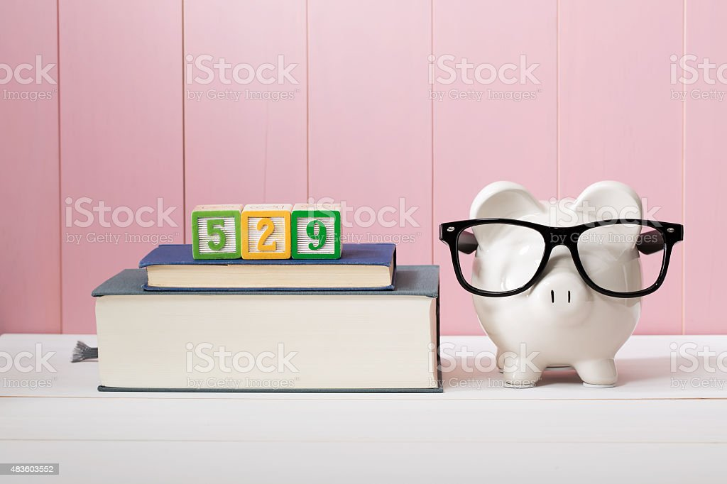 529 college savings plan concept stock photo