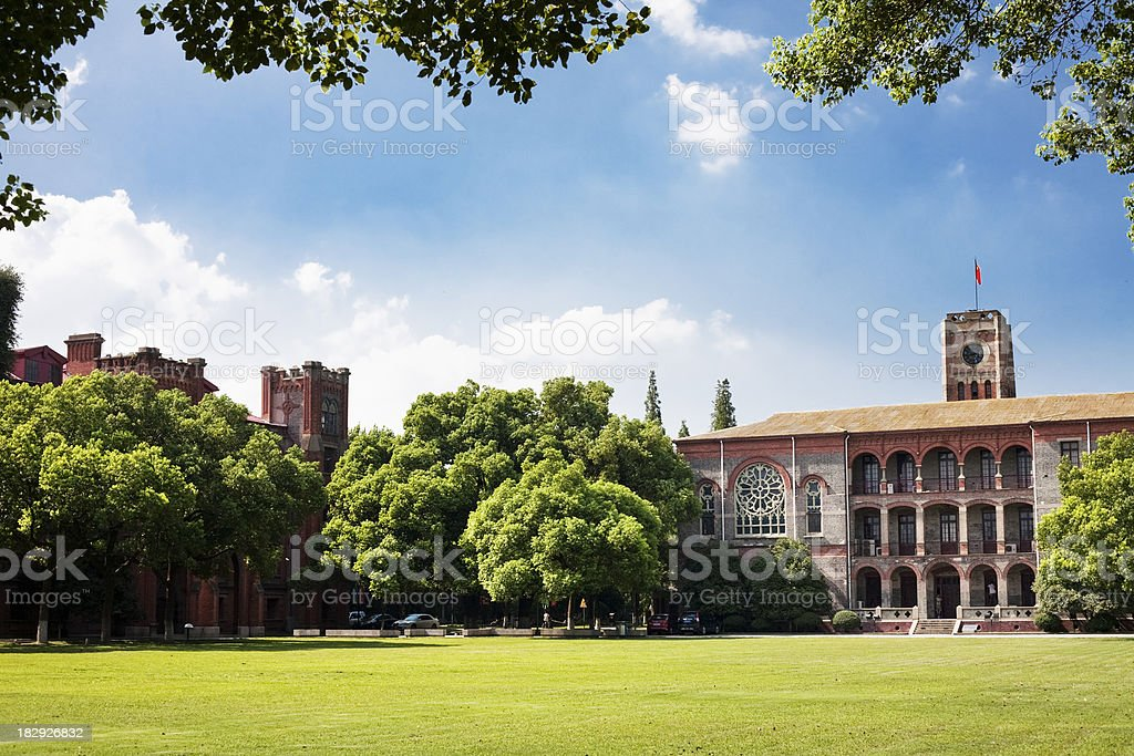 College scence stock photo