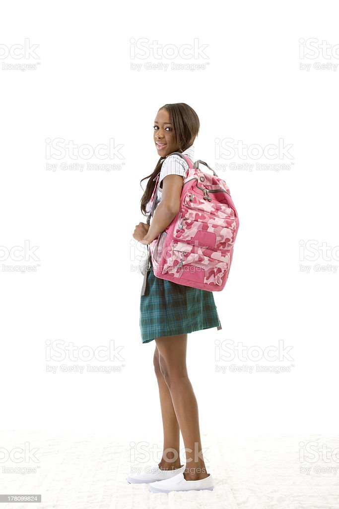 College student African American woman royalty-free stock photo