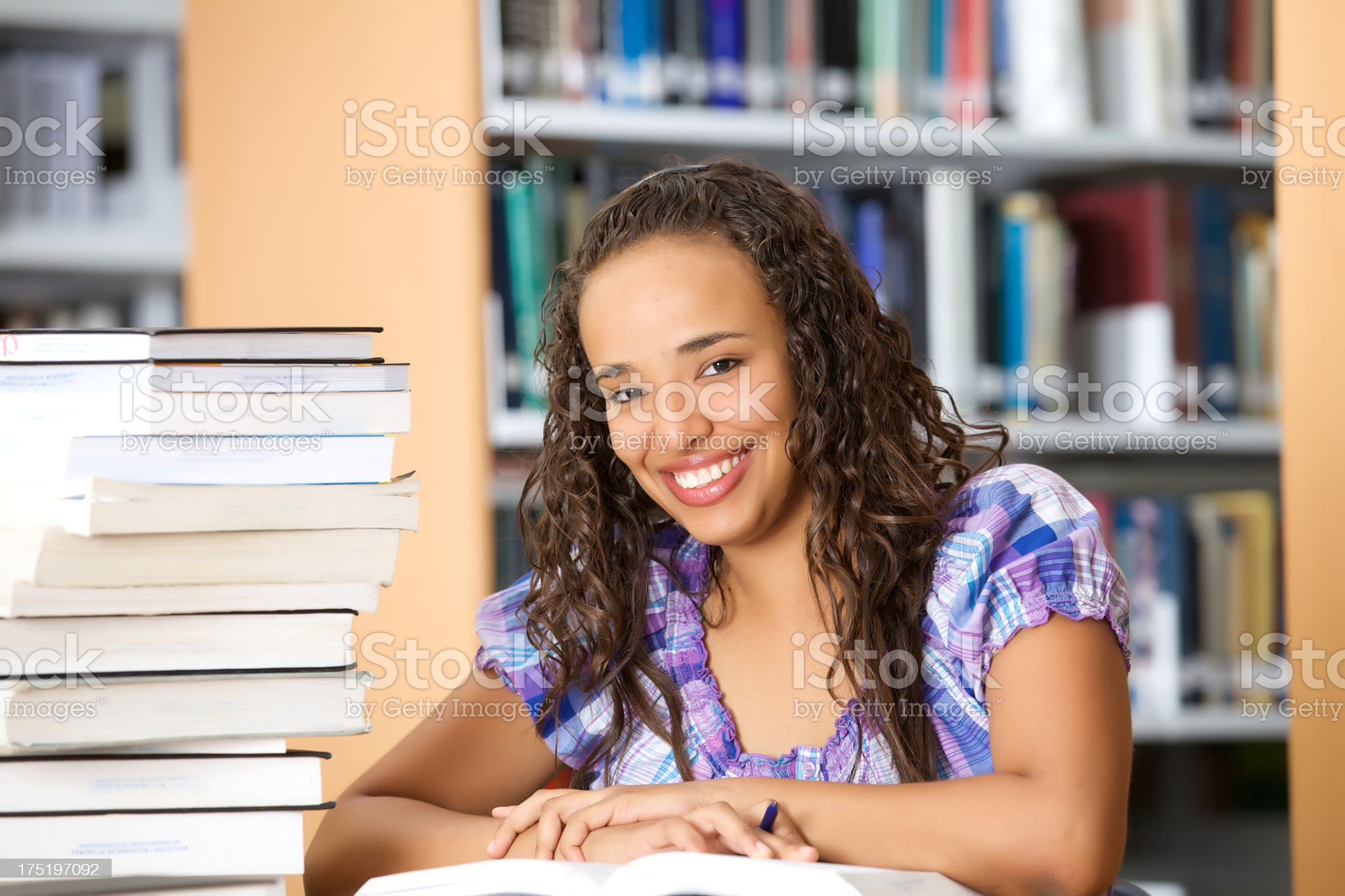 College student at the library royalty-free stock photo