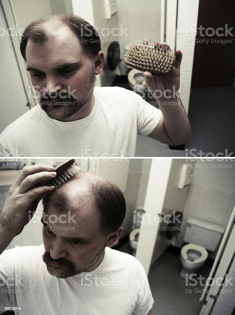 College Student Grooming royalty-free stock photo