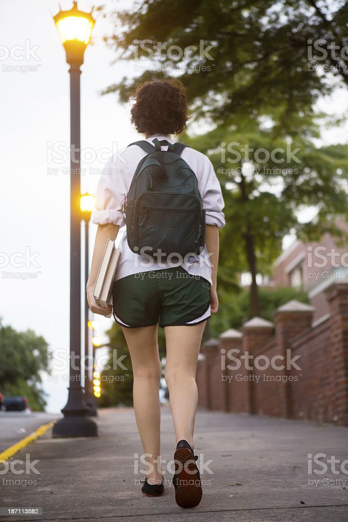 College Student on Campus royalty-free stock photo