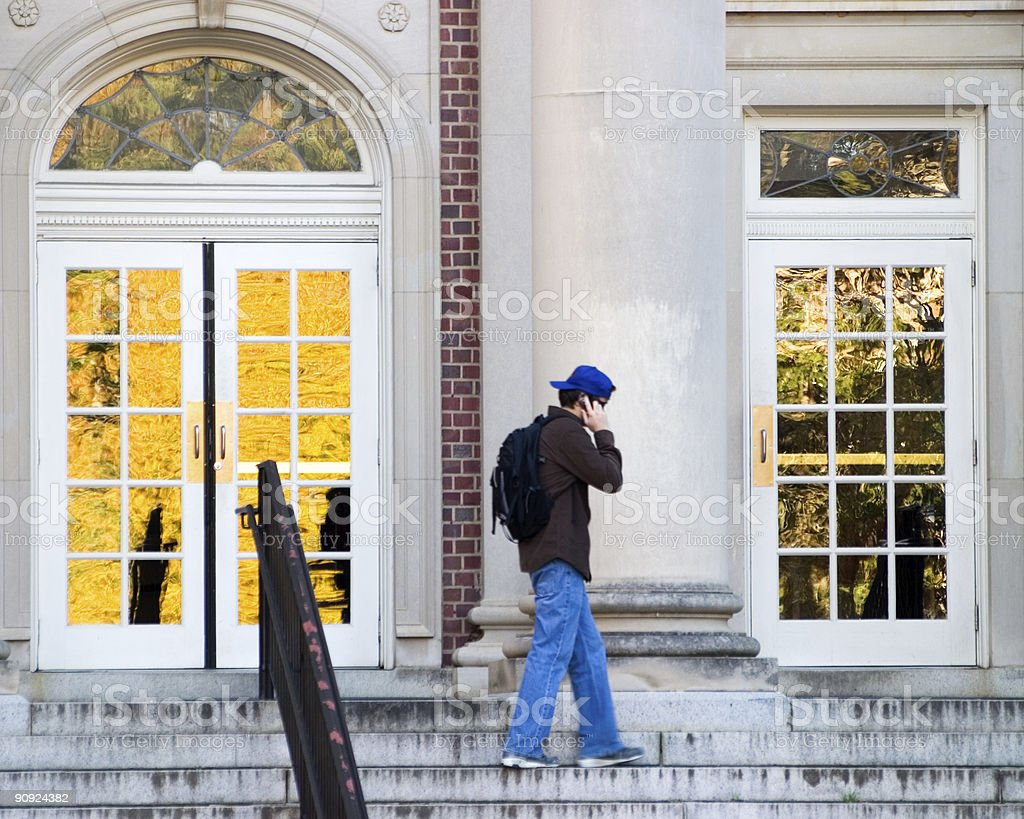 College Student On Cell royalty-free stock photo