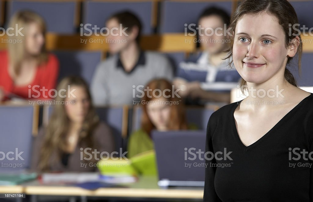 College student portrait royalty-free stock photo