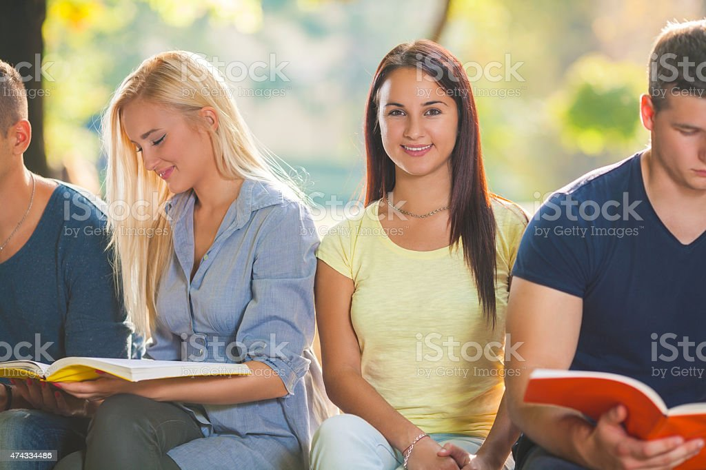 College Student Portrait stock photo
