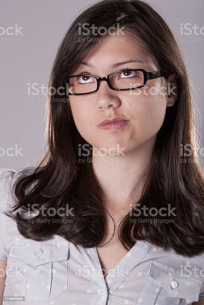 college student posing royalty-free stock photo