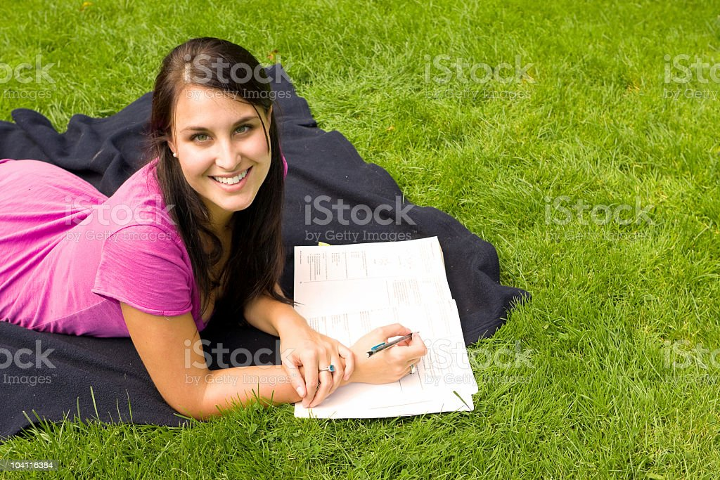 College Student Studying royalty-free stock photo