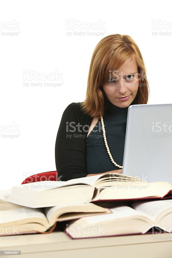College Student Using Laptop royalty-free stock photo