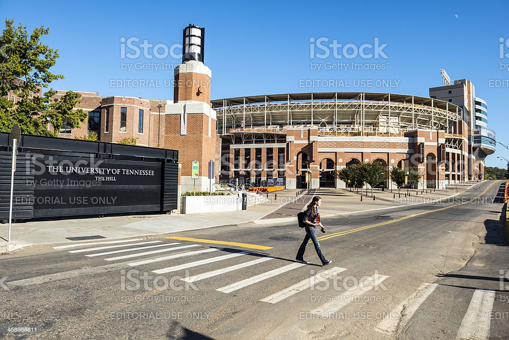 Neyland Stadium at University of Tennessee stock photo
