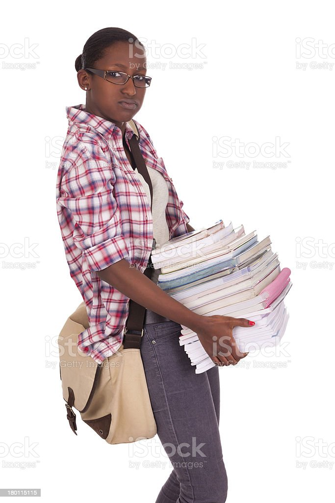 College student young African American royalty-free stock photo
