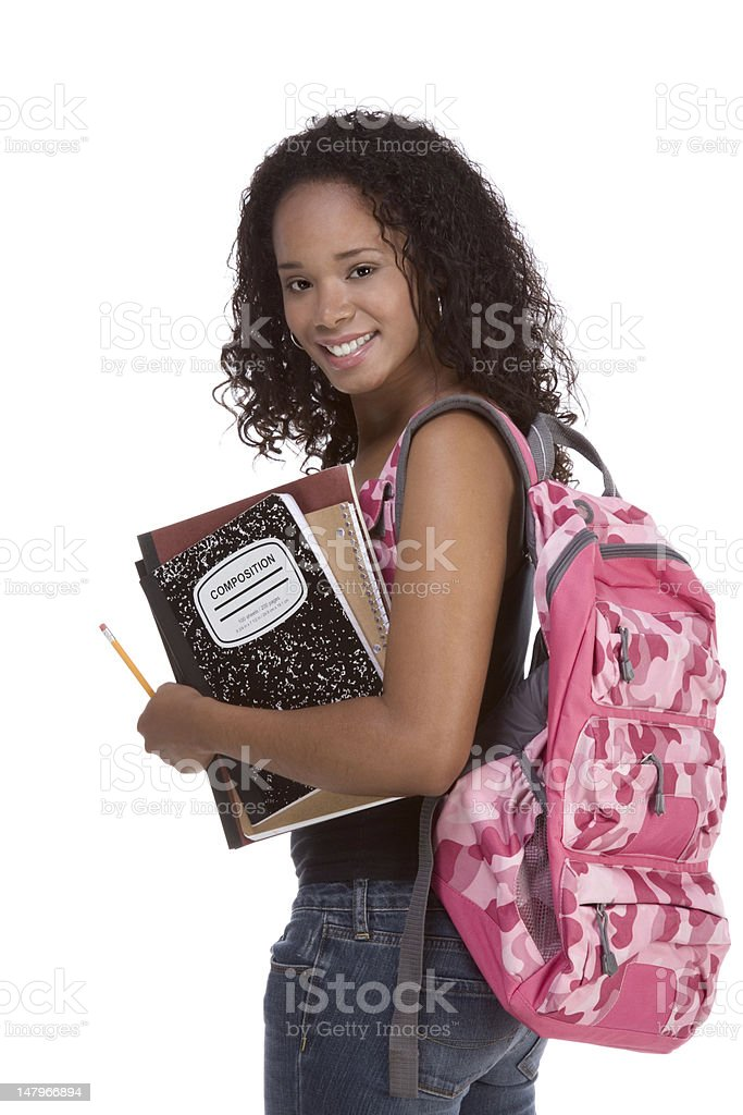 College student young African American woman stock photo