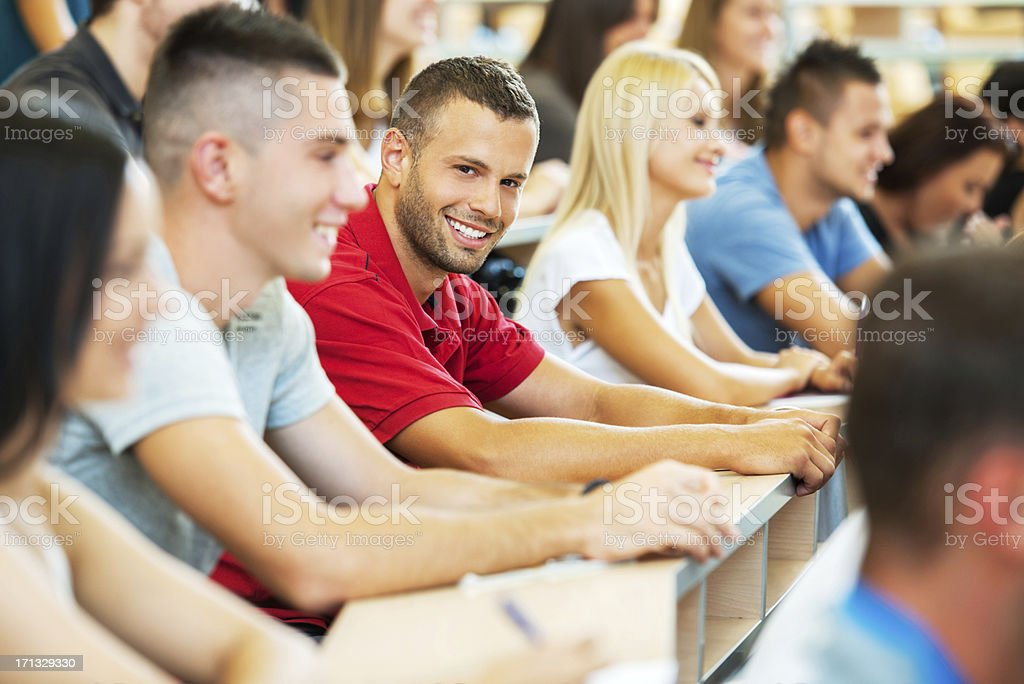 College students at lecture hall. royalty-free stock photo