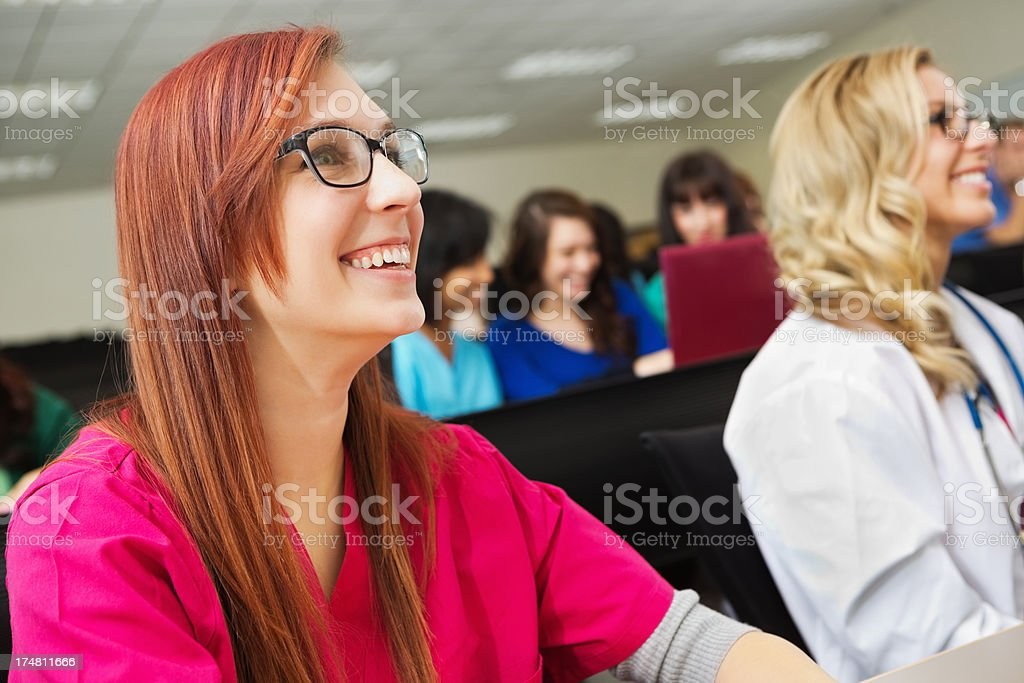 College Students Attending Their Class royalty-free stock photo