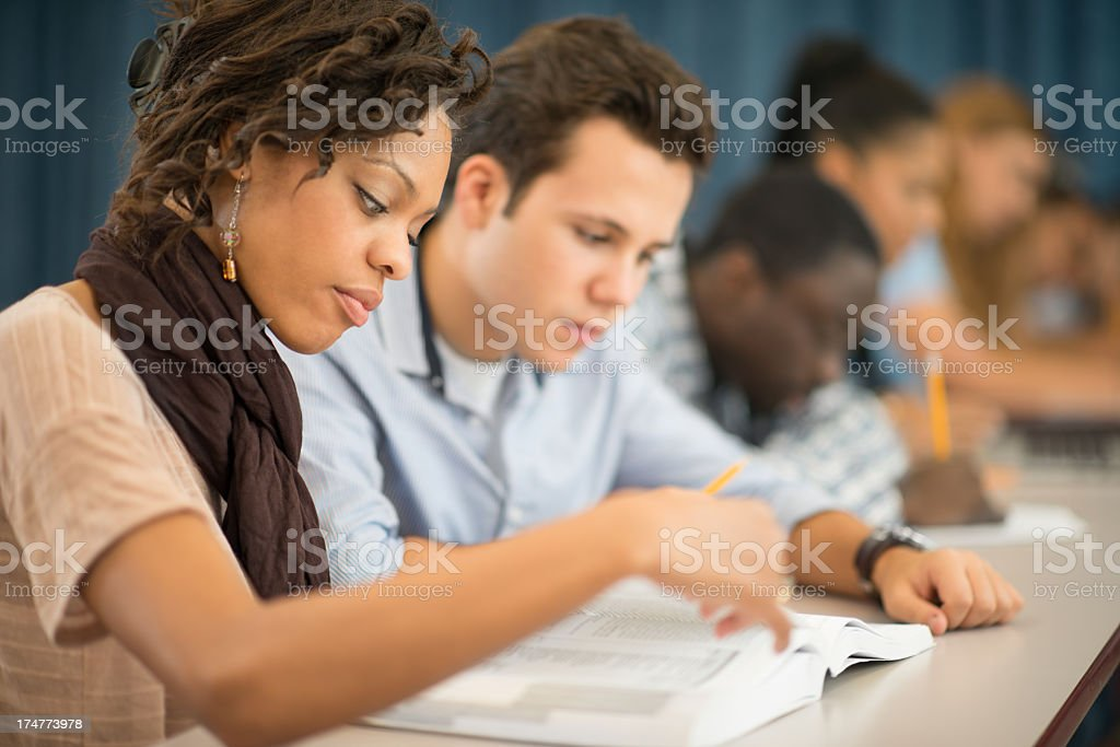 College students. stock photo