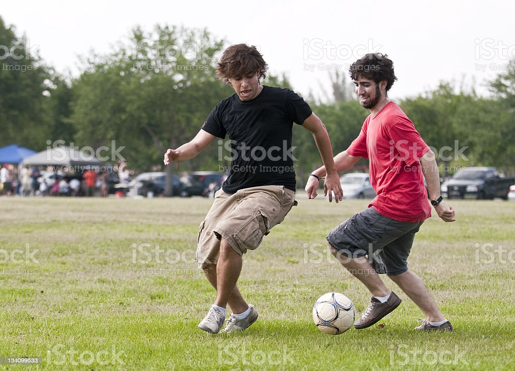 College students playing in the park royalty-free stock photo