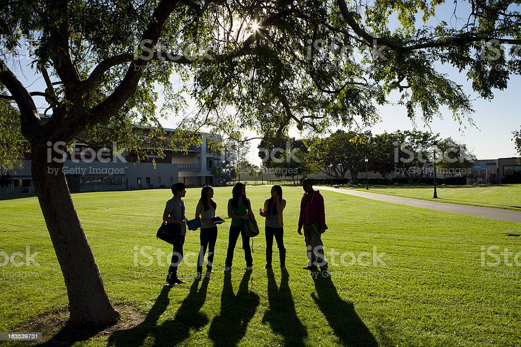 College Students Sillouette royalty-free stock photo