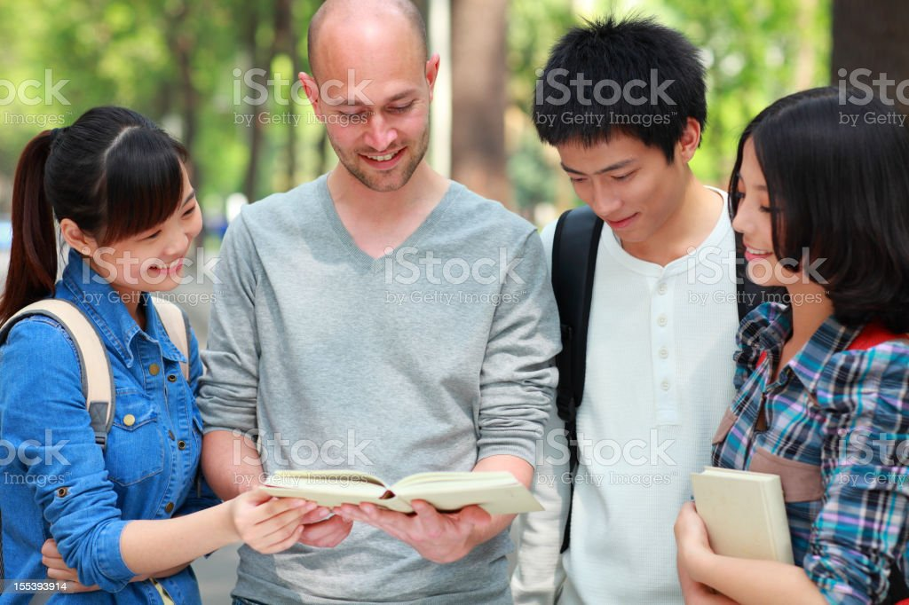 college students study together royalty-free stock photo