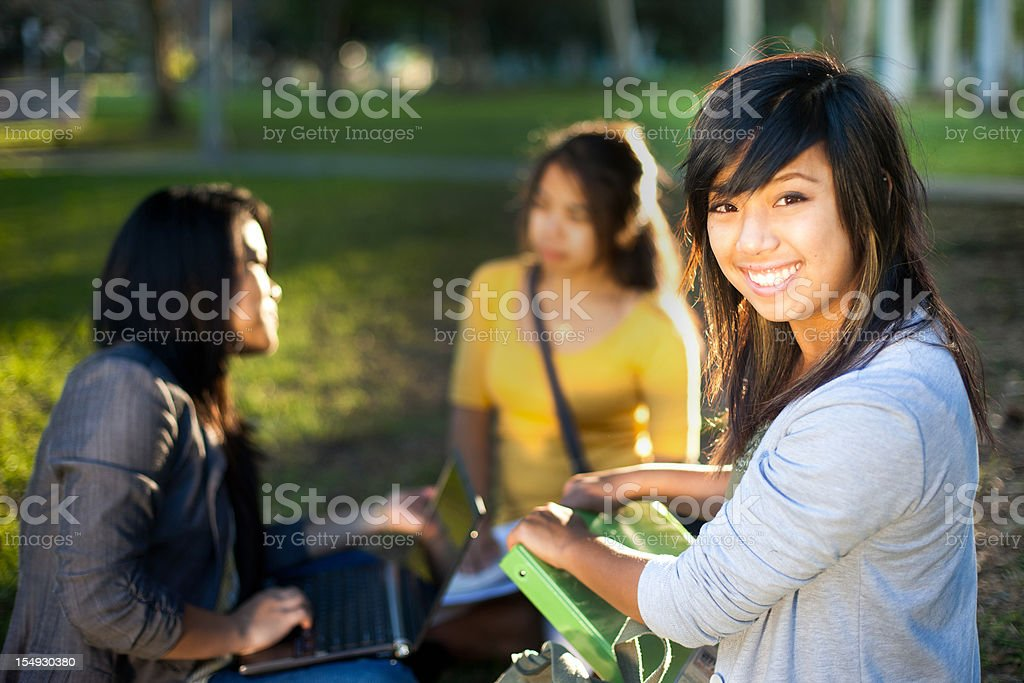College Students Studying royalty-free stock photo