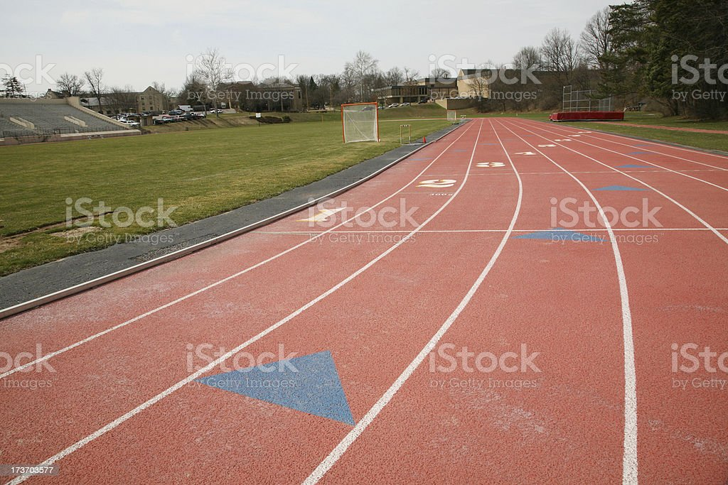 College Track And Field royalty-free stock photo