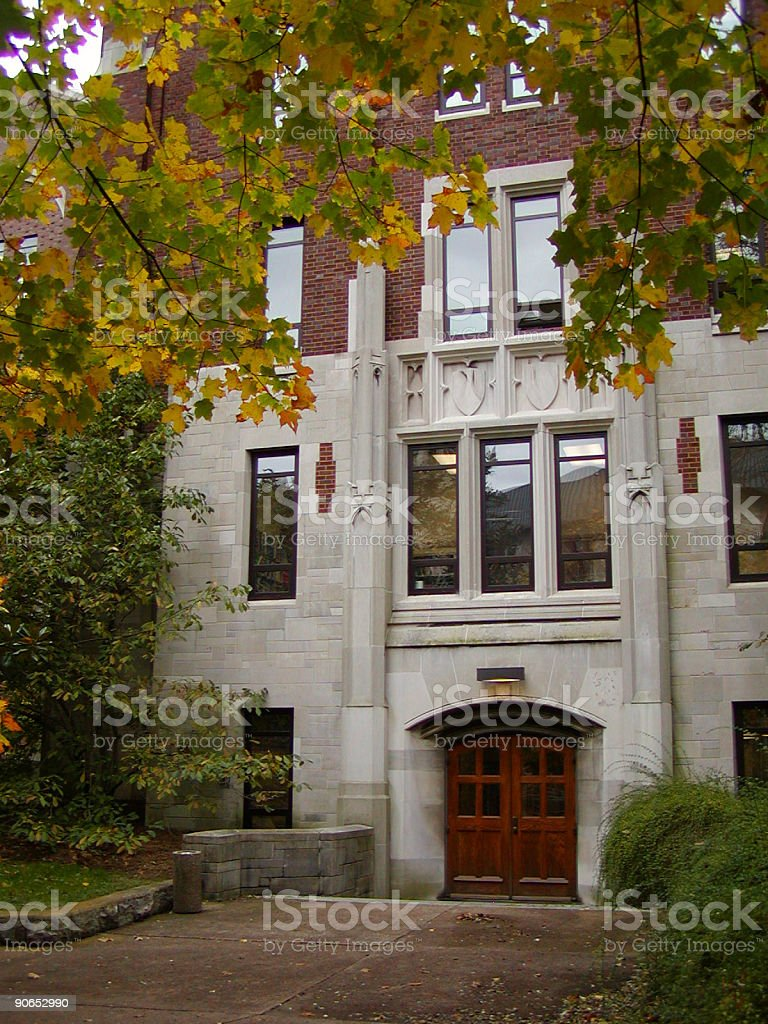 college/university building stock photo