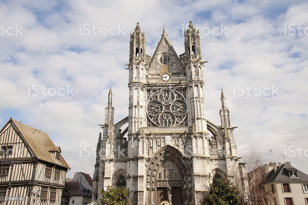 Collegiale Notre-Dame stock photo