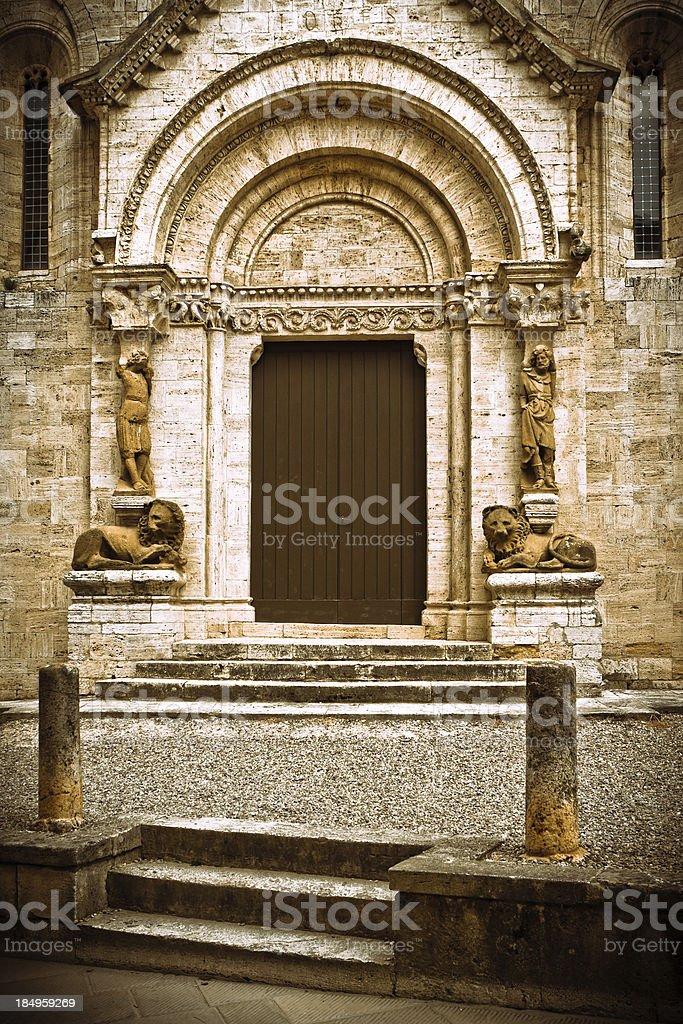 Collegiata di San Quirico in Val d'Orcia, Italy royalty-free stock photo