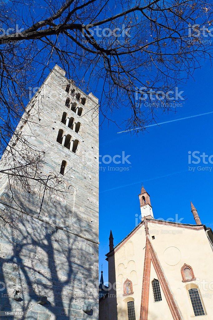 Collegiata di Sant'Orso, Aosta stock photo
