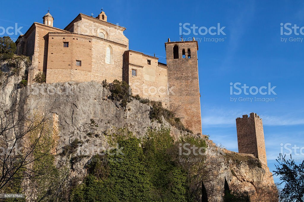 Collegiate Church of Alquezar stock photo