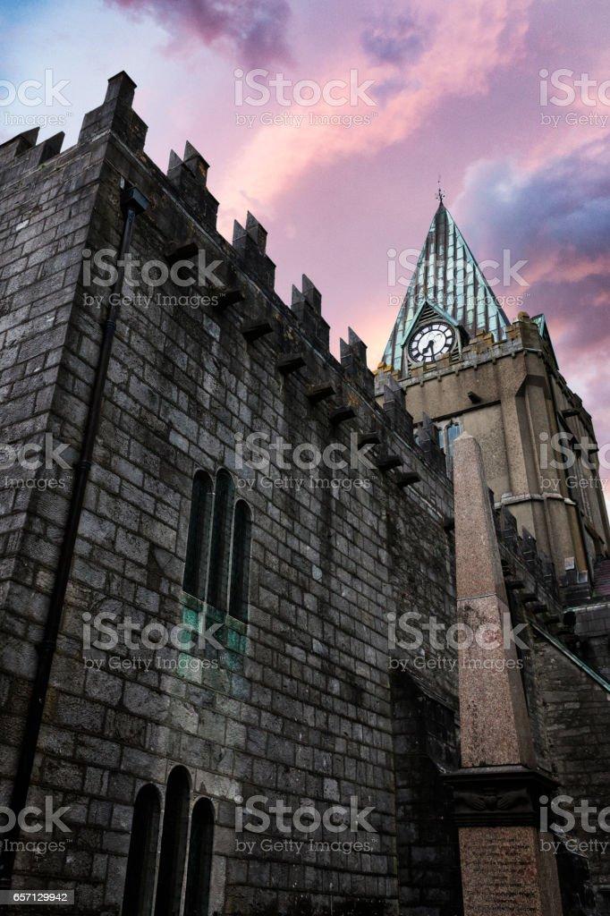 Collegiate Church of St. Nicholas in Galway, Ireland. stock photo