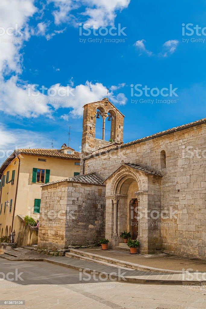 Collegiate church of Sts Quiricus and Julietta in stock photo