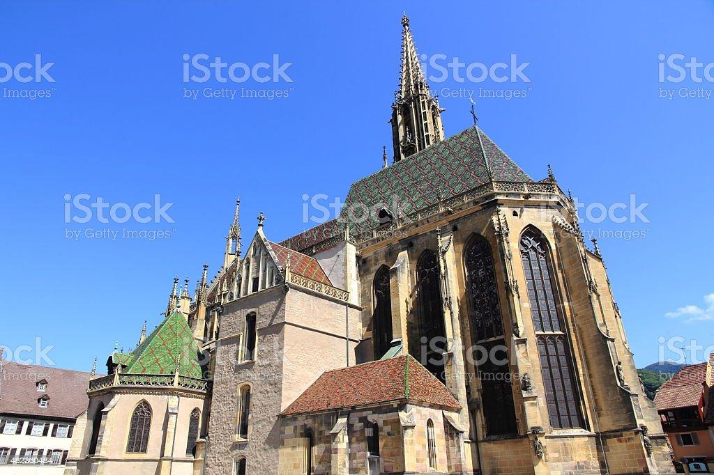 Collegiate church of Thann stock photo
