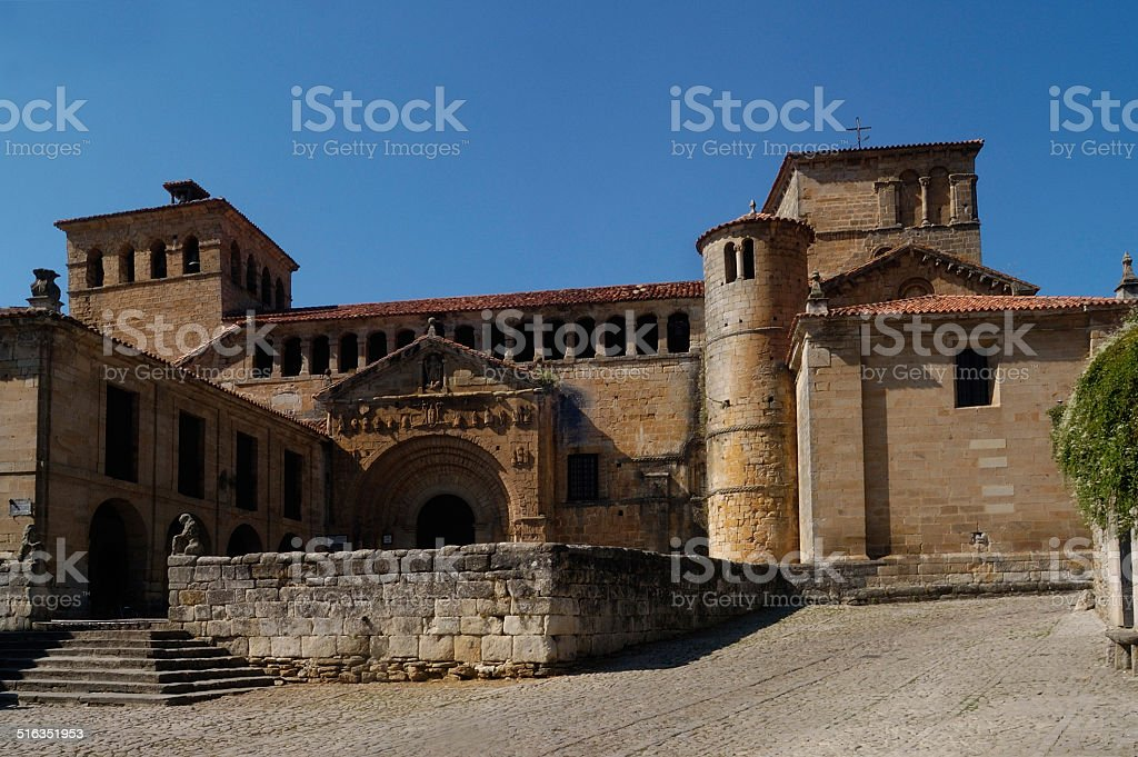 Colegiata, Santillana del Mar, Cantabria stock photo