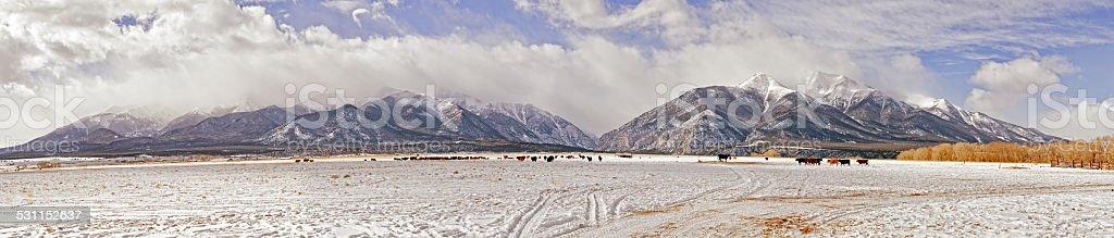 Collegiate Peaks Colorado stock photo